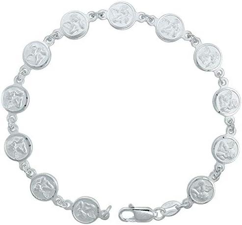 Christmas Angel Italian Charm Link Bracelet Charms
