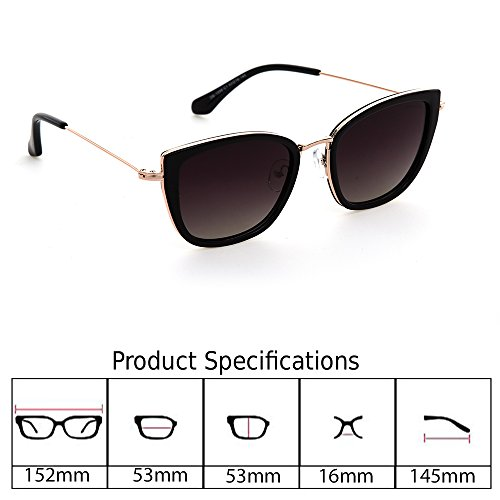 505e45ca17 Despada, Made In ITALY Cat Eye Polarized Lens Metal Frame Ladies Sun  glasses DS1550
