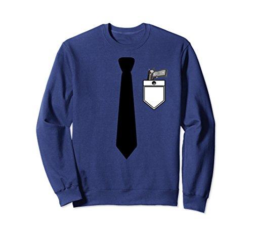 Tux Sweatshirt (Unisex Formal Tuxedo Black Tie Tux Sweatshirt with Pistol Small Navy)