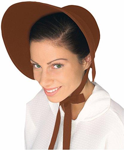 Amelia Bedelia Costume (Forum Women's Wool Felt Bonnet, Brown)