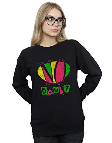Absolute Doubt Camisa Distressed Neon Cult Logo De No Entrenamiento Mujer Negro 7qnpW7cRrA