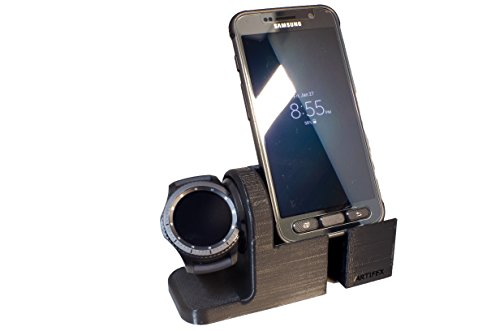 Samsung Gear S3 Stand, Artifex Charging Dock Stand for Samsung Gear S3 Classic and Frontier, New 3d Printed Technology, Smartwatch Cradle (Gear S3 Combo)