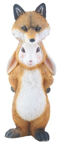 - Brown and Cream Rabbit as Fox Dupers Themed Decorative Figurine Statue