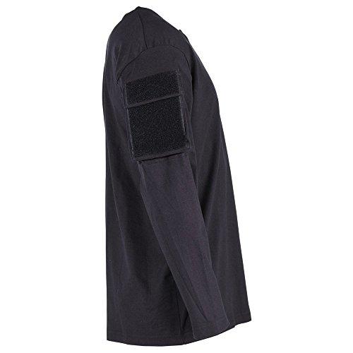 MFH US Shirt, langarm, schwarz, mit Ärmeltaschen