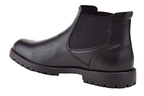 Dress On Jacob Franco Men's Chelsea Slip Formal Black Boots Vanucci Casual 1nTqaZ