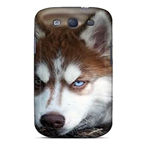 For Case HTC One M7 Cover Protector Case Animals Husky Phone Cover