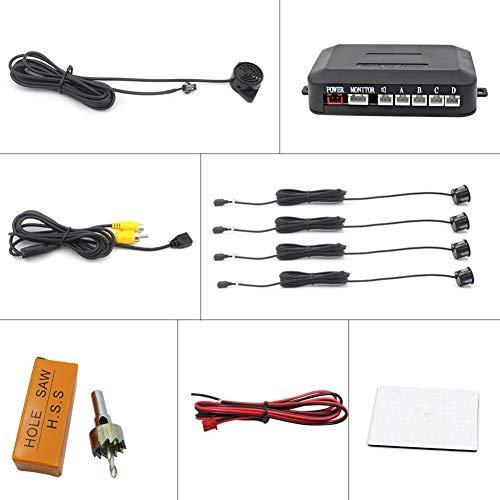 ROPALIA 4 Sensor Buzzer Parking Sensor kit reversing Indicator Detection System Audible Alarm