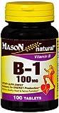 Mason Natural B-1 100 mg - 100 Tablets, Pack of 6
