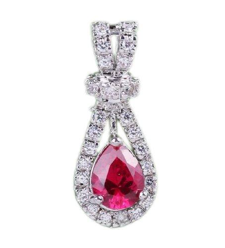 JTC Alloy Crystal Jewelry Size 27x11mm Teardrop Pendant Fit Necklace Making - 11mm Drop Pendant