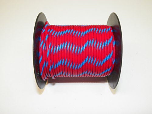 Red/Blue Striped, 18 GA AWG GXL Wire, 100