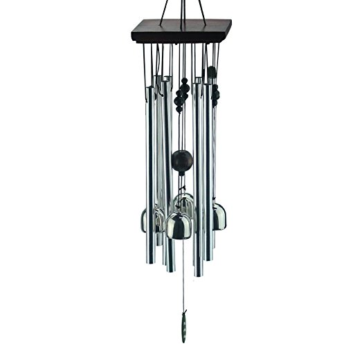 "Ogrmar Outdoor Wind Chimes 22"" Amazing Grace Wind Chimes for Outdoor Indoor Patio Garden Balcony Beautiful Outdoor Home Decor (silver)"