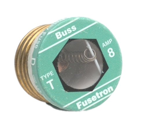 Cooper Bussmann BP/T-8 Plug Fuse Type T