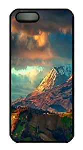 iPhone 5S Case and Cover -The Apennines Mountains PC Hard Plastic Case for iPhone 5/5S Black