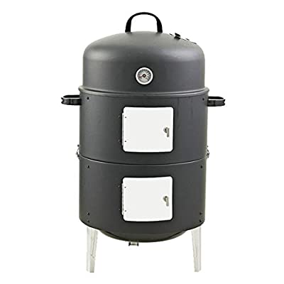 Realcook 17-Inch Multi-functional BBQ Charcoal Smoker Grill for Outdoor Cooking by Realcook