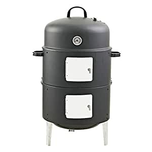 Realcook 17-Inch Multi-functional BBQ Charcoal Smoker Grill for Outdoor Cooking