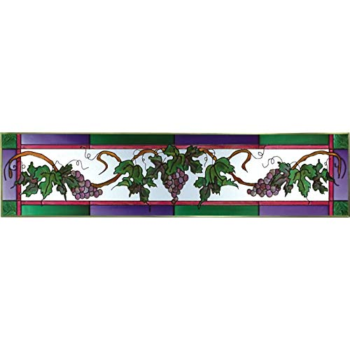 Grapes Painted Glass Panel -