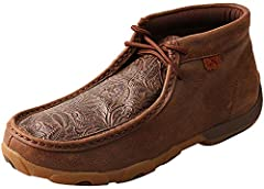 Twisted X Ladies Driving Moccasins - Brown/Brown Print The comfort of our Twisted X driving moccasins will have you convinced that you're kicking about in your most comfortable slippers! The outsoles are built with a special, dual-lasted cons...