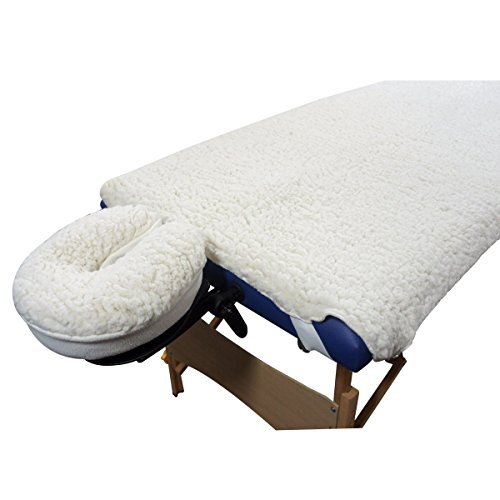 New Deluxe EarthGear Massage Table Sheet Fleece Cover & Face Rest Pad Set - Face Rest Pad