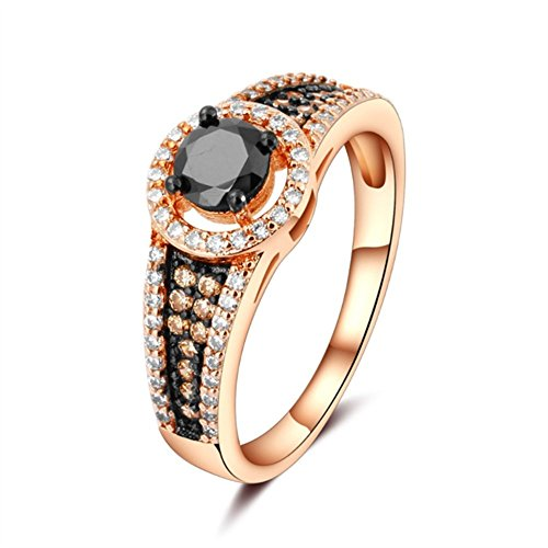 Collection Vantage (Women's Fashion Ring Silver Ring Best Promise Rings for Ladies Vantage Rose Red Zircon Ring for Anniversary Birthday Gift Jewelry Collection)