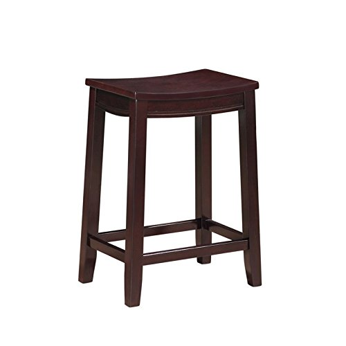 Amazoncom Riverbay Furniture 25 Wooden Saddle Counter Stool In