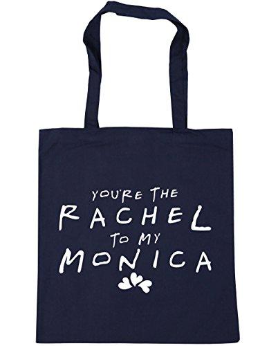 HippoWarehouse estás la bolsa de la compra bolsa de playa de Rachel a mi Mónica 42cm x38cm, 10litros azul marino