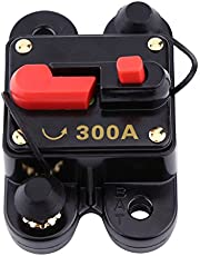 80-300A DC12V Circuit Breaker, Automatic Reset Fuse for Car Marine Boat Bike Stereo Audio Reset Fuse (300A)
