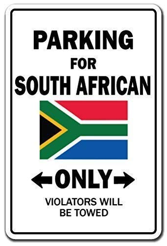 Joycenie Tin Sign Great Aluminum Metal Sign Parking South African Only National Pride Sign South Africa Flag National Pride Love Decoration Wall Decor 12x8 Inch