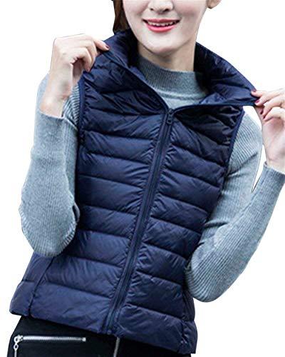 Automne Legere Oversize en Vtements Vest Jacket Matelass Manteau Marineblau Outerwear Fashion Gilet Duvet Gilet Sleeveless Warm Elgante Femme Casual E8nCq
