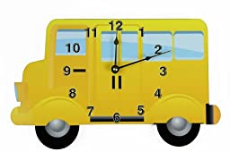 Rikki Knight Yellow School Bus Wall Clock