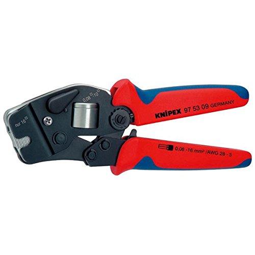 KNIPEX(クニペックス)9753-09 ワイヤーエンドスリーブ圧着ペンチ (SB) スポーツ レジャー DIY 工具 ペンチ 圧着ペンチ top1-ds-1850536-ak [簡易パッケージ品] B071CSH7V5