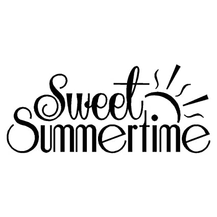 amazon com sweet summertime home wall decal quote vinyl words