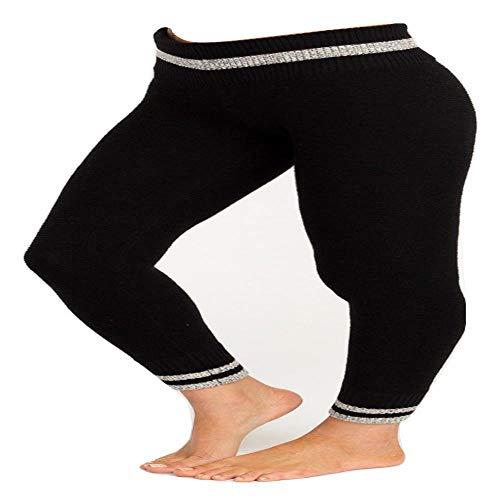 RVCA Junior's LOOMED Knit Legging, Black, M