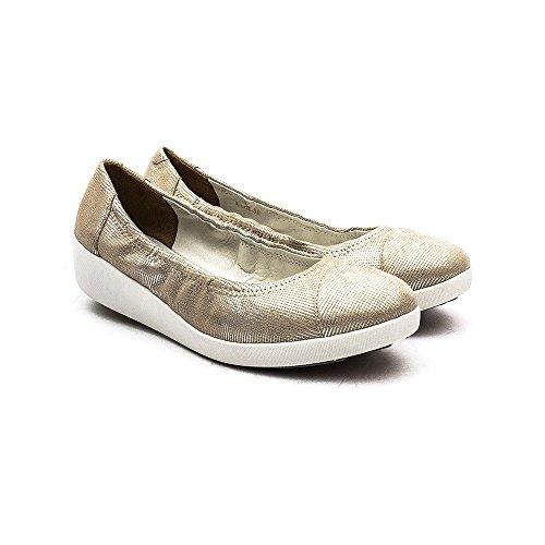 Fitflop F-Pop Opul Ballerina Femme Chaussures Naturel