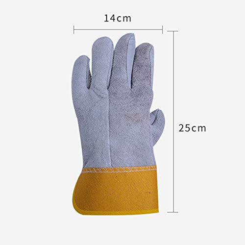 AINIYF Work Safety Protective Gloves, Welding Cowhide Gloves For Oven/Grill/Fireplace/Stove/Pot Holder/BBQ (Size : 12 pairs) by AINIYF (Image #2)