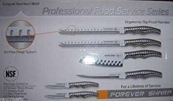 Amazoncom Forever Sharp Profesional Food Service Knife Set Series