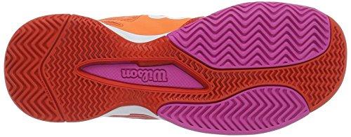 Wilson WRS322270E080, Zapatillas de Tenis para Mujer, Varios Colores (Multicolor / Nasturtium / Fiery Red / Rose Violet), 42 EU