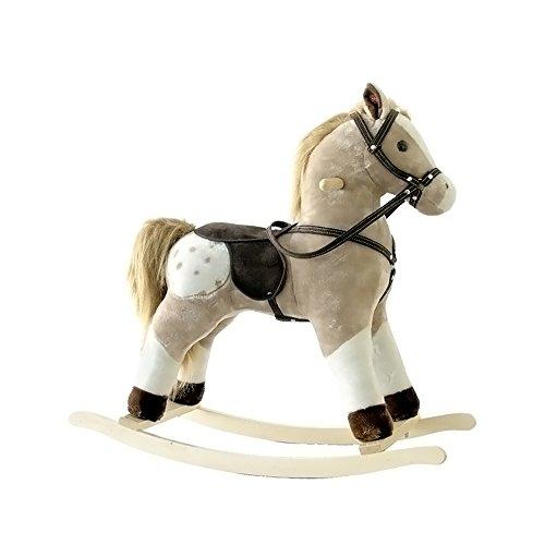 Alexander Taron Importer Pinto Plush Rocking Horse with S...
