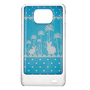 hao Wave Point Rabbit Pattern Protective Hard Back Case Cover for Samsung Galaxy S2 I9100