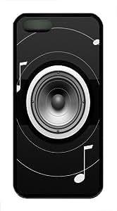 Black And White Music Custom iPhone 5s/5 Case Cover TPU Black