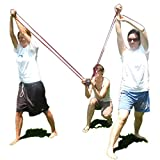 KOMVOX Water Balloon Launcher 400 Yard Long Range, 3 Person Balloon Large Slingshot Trebuchet, Tshirt Slingshot Launcher, Water Cannons Yard Toys, 500 Balloons Included