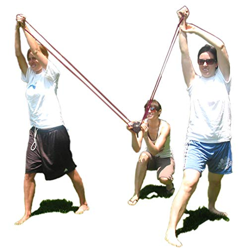 KOMVOX Water Balloon Launcher 400 Yard Long Range, 3 Person Balloon Large Slingshot Trebuchet, Tshirt Slingshot Launcher, Water Cannons Yard Toys, 500 Balloons Included -