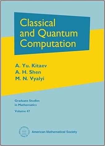 Classical and Quantum Computation (Graduate Studies in