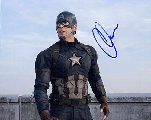 Chris Evans (Avengers) signed 8x10 photo