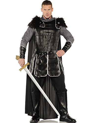 Black Faux Fur Adult Costumes Cape (Warrior King Adult Costume - One Size)