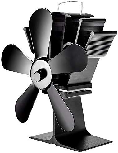 5ブレード熱ストーブファン、ログ木材バーナーの熱暖炉ファン、静かなファン効率的な熱分布エコフレンドリー