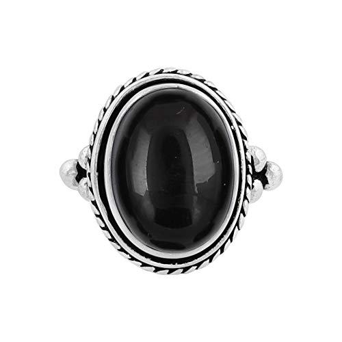 Buy mens silver onyx rings