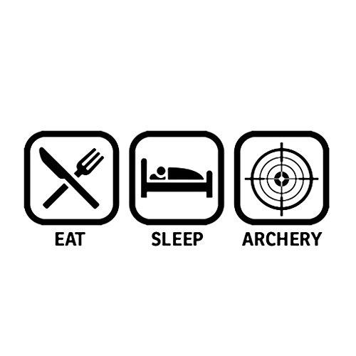 EAT SLEEP ARCHERY Hunters Hunting Car Laptop Wall Sticker (Bear Archery Decal)