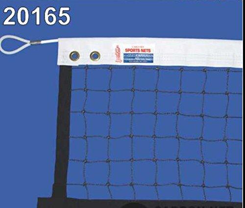 C.N. Platform Tennis Net - 22' X 2'6'', 30 Nylon, 1 3/4'' mesh, 28'x1/4'' Steel Cable, 6lbs