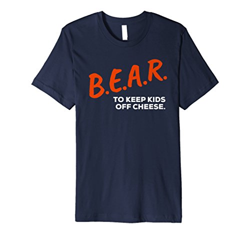 Mens B.E.A.R. To KEEP KIDS OFF CHEESE Dare Bear T Shirt Large Navy