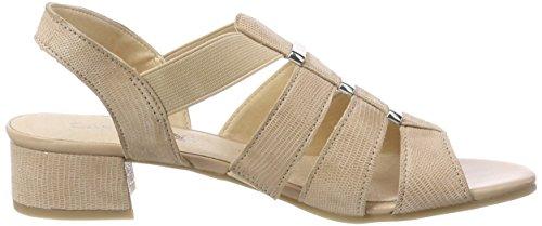 Sandals 28200 Reptile Womens Beige Sling Beige 410 Back Caprice USva1WOU